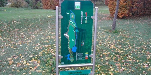 Golf course information signs